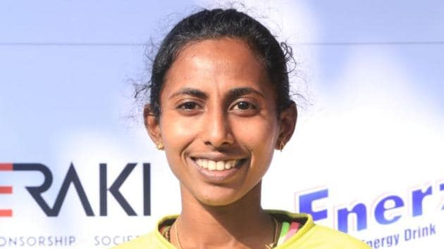 Indian race walker B Soumya has qualified for the 2018 Asian Games to be held in Indonesia.(HT Photo)