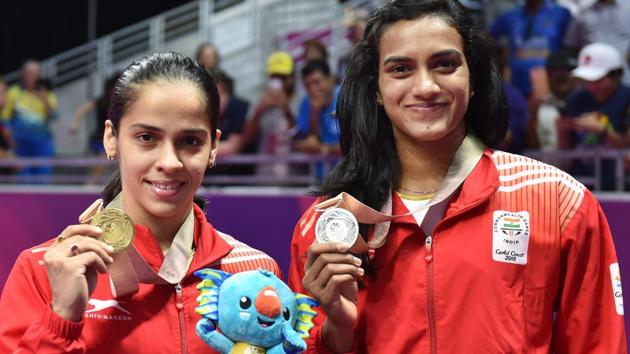 Saina Nehwal and PV Sindhu won the gold and silver medals respectively in the 2018 Commonwealth Games in Gold Coast.(PTI)