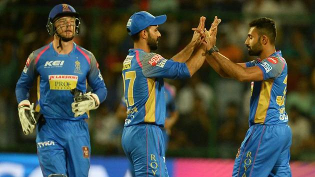 Live streaming of Kings XI Punjab (KXIP) vs Rajasthan Royals (RR), IPL 2018 match at the Holkar Stadium in Indore was available online. KXIP beat RR in their Indian Premier League encounter in Indore on Sunday.(AFP)