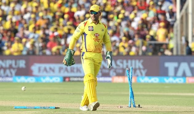Back in his favourite yellow jersey of Chennai Super Kings in IPL 2018, MS Dhoni has turned the clock back spectacularly, rebutting all trash-talk that his reflexes were slowing.(BCCI)