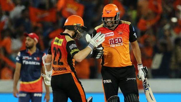 Sunrisers Hyderabad climbed to the top of the IPL 2018 table with a seven-wicket win over Delhi Daredevils.(BCCI)