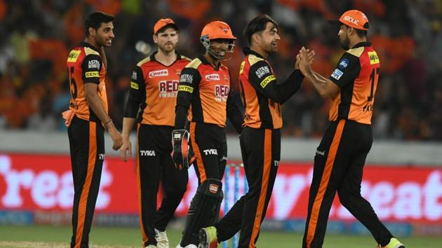 Live streaming of Sunrisers Hyderabad vs Royal Challengers Bangalore IPL 2018 match at the Rajiv Gandhi International Cricket Stadium in Hyderabad is available online.(AFP)