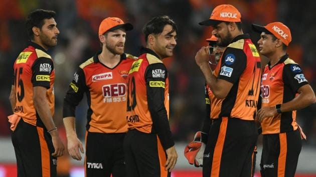 Sunrisers Hyderabad look to secure their play-off berth when they face Royal Challengers Bangalore in the Indian Premier League (IPL) 2018 on Monday.(AFP)