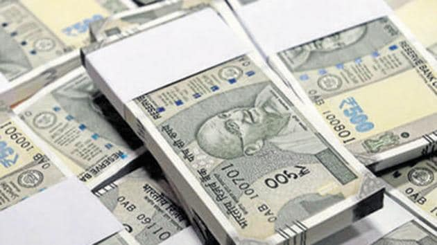 New currency notes of Rs 500 at the State Bank of India head office in New Delhi.(PTI File Photo)