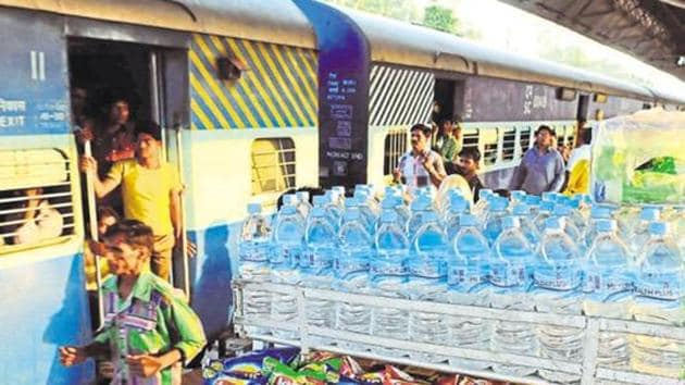 CR will hold a meeting on May 10 to look for alternatives to plastic spoons that are served with meals on long-distance trains.(HT File Photo)