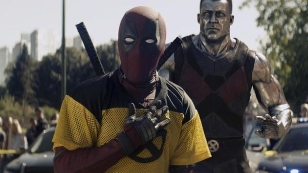 This image released by 20th Century Fox shows a scene from Deadpool 2, premiering on May 18.(AP)
