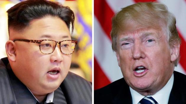 A combination photo of North Korean leader Kim Jong Un and US President Donald Trump.(Reuters)
