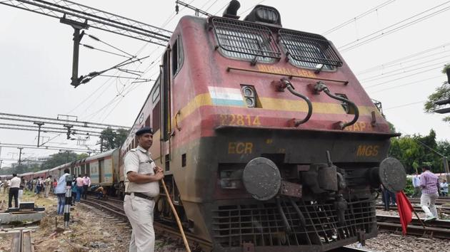 A fire engulfed the locomotive of the 12810 Howrah-Mumbai CSMT train at 4:57pm on Sunday.(PTI/ Representative Photo)