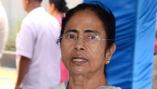 West Bengal chief minister Mamata Banerjee addresses the media at CM's office in Howrah on May 8.(PTI Photo)
