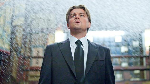 Leonardo DiCaprio in a still from Inception