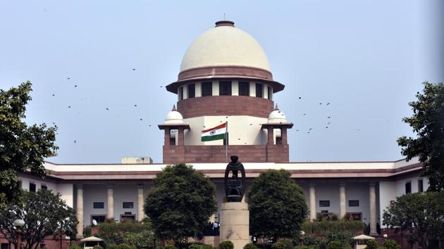 A view of the Supreme Court building in New Delhi.(Sonu Mehta/HT PHOTO)