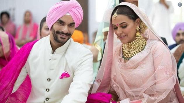 Angad Bedi and Neha Dhupia are married now.