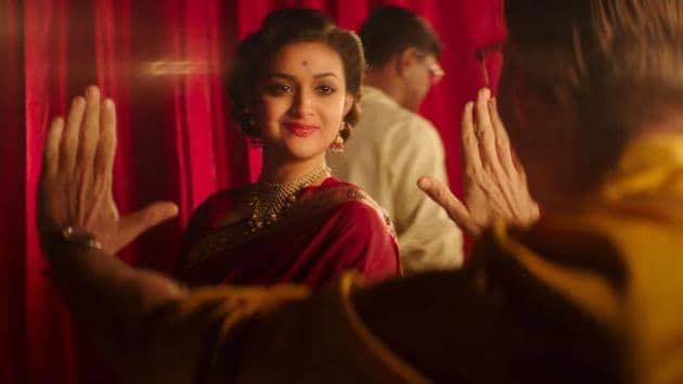 Keerthy Suresh portrays the role of Savitri in the biopic, Mahanati.