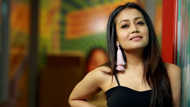 Singer Neha Kakkar recently released her independent single, Oh Humsafar, whose video also featured actor Himansh Kohli.(Photo: Amal KS/HT Photo)