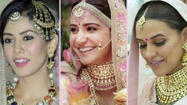 Mira Rajput Kapoor's Anamika Khanna lehenga, Anushka Sharma's Sabyasachi Mukherjee lehenga, Neha Dhupia's Anita Dongre lehenga, which beautiful wedding lehenga is your favourite? (Instagram)