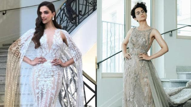 Deepika Padukone definitely had some competition in Kangana Ranaut's see-through designer outfit at Cannes 2018. (Instagram)