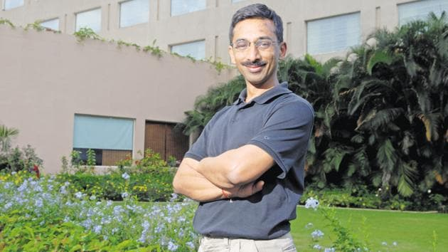 Ashish Gupta, a US citizen, is a PhD from Stanford University in California, and a computer science graduate from the Indian Institute of Technology, Kanpur.(Hemant Mishra/Mint)