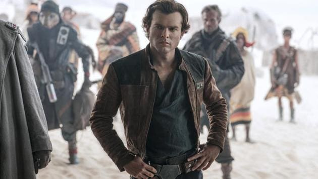 In this image released by Lucasfilm, Alden Ehrenreich appears in a scene from Solo: A Star Wars Story.(AP)