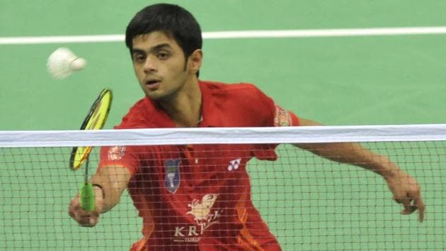 Sai Praneeth was defeated by Lee Cheuk Yiu at the Australian Open badminton championship on Friday.(HT Photo)