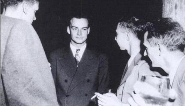 Richard Feynman at Los Alamos, New Mexico, where he was roped in along with other brilliant minds to develop an atomic bomb for use in World War 2. When the bomb was ultimately used, against Japan, it filled him with regret over his work.(Source: Wikimedia Commons)
