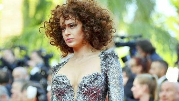 Kangana Ranaut wore this sparkling jumpsuit from Nedret Taciroglu for her second Cannes Film Festival red carpet outing on Friday. (Instagram)