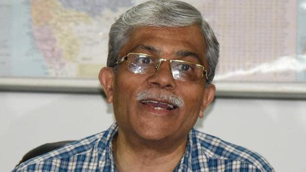 Nitin Karmalkar, vice-chancellor of Savitribai Phule Pune University(HT FILE PHOTO)