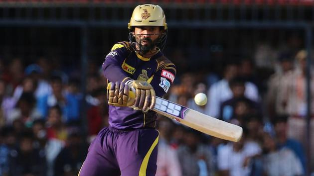 Dinesh Karthik scored a fifty for Kolkata Knight Riders during their IPL 2018 match against Kings XI Punjab in Indore on Saturday.(BCCI)