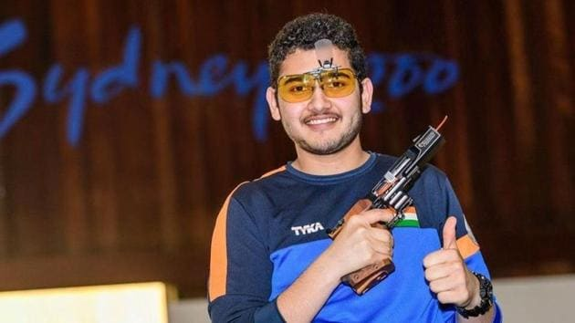 Anish Bhanwala had won a gold medal at the 2018 Commonwealth Games in Gold Coast.(Twitter)