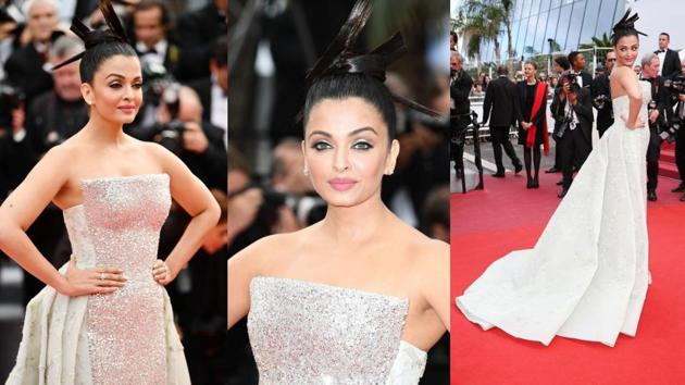 Keep scrolling to see how Aishwarya Rai Bachchan worked a topknot on the Cannes red carpet. (Instagram)