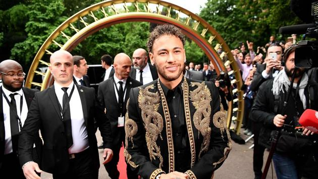 Paris Saint-Germain's Brazilian forward Neymar was named as France's player of the year at an awards ceremony in Paris.(AFP)