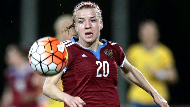 Rapt crowds now watch Margarita Chernomyrdina (in pic) lead the Russia women's national football team in its quest to win acceptance and respect in Vladimir Putin's socially conservative Russia.(Getty Images)