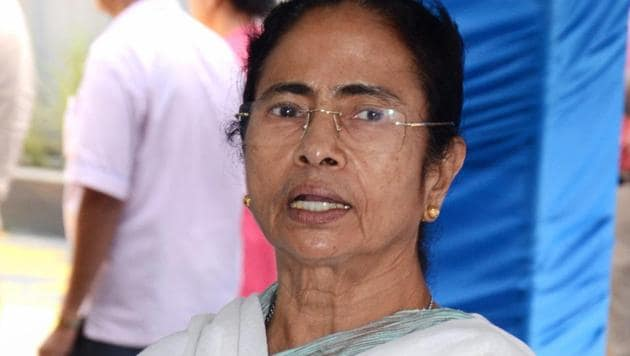 West Bengal chief minister Mamata Banerjee addresses the media at CM's office in Howrah.(PTI File Photo)