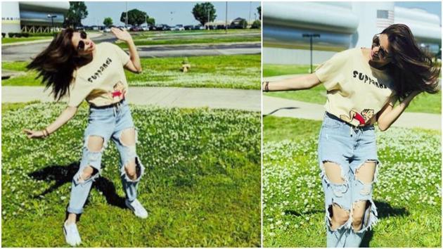 Anushka Sharma shows us how to wear low-key boyfriend jeans in summer. (Instagram)