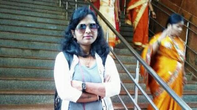 The Pune police crime branch arrested Dhaktode, Aayodya Vaidya's(in picture) boyfriend, from Kalepadal area in Hadapsar.(HT PHOTO)