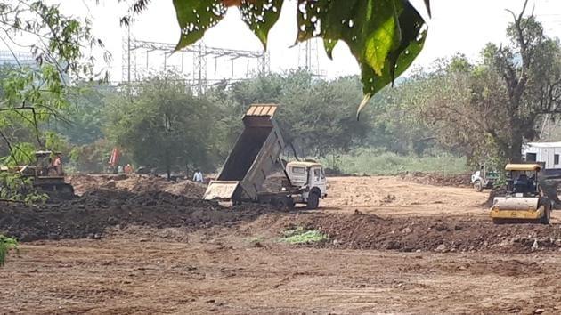 Work in progress at the 30-hectare plot in Aarey Colony.(Zory Bathena)