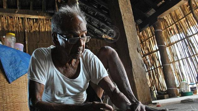 Jivya Soma Mashe was fascinated with tribal art since the age of 11.(HT)