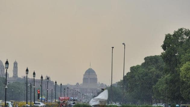 A view of the Rashtrapati Bhavan from a distance in New Delhi.(HT File Photo)