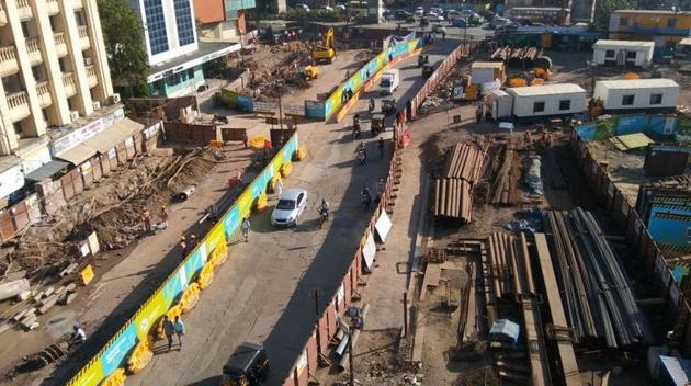 Metro-3 work underway at Marol Naka.(File Photo)