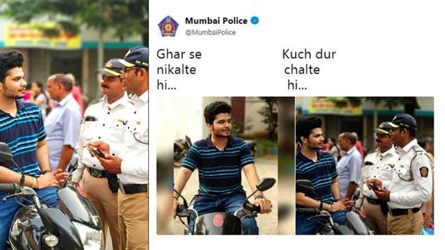Mumbai Police joins the bandwagon with a cheeky tweet(Twitter/Screengrab)