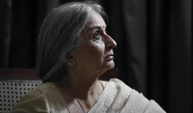 Nilam Katara fought for 16 years to get justice to her son Nitish Katara(PHOTO: RAAJESSH KASHYAP/HT)