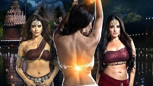 Karishma Tanna, Surbhi Jyoti and Anita Hassanandani in Naagin 3.(Colors)