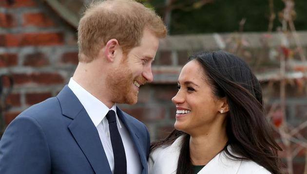 Prince Harry and actress Meghan Markle during an official photocall to announce their engagement.(AP)