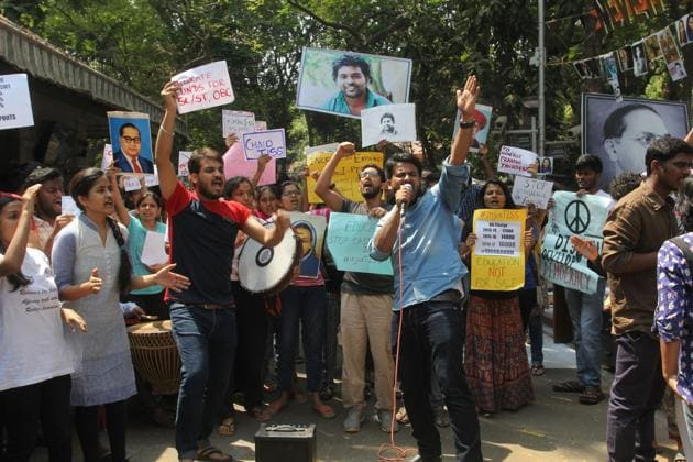 For the past three months, a group of students has been agitating on TISS campus against the institute's decision to cancel fee waivers.(HT FILE)