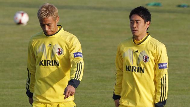 Keisuke Honda (L) and Shinji Kagwa have both been included in Japan's squad for the friendly against Ghana.(Getty Images)