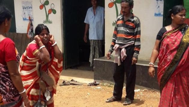 The woman, in her thirties, is the wife of a former Trinamool Congress member of the Kankabati gram panchayat.(HT Photo)