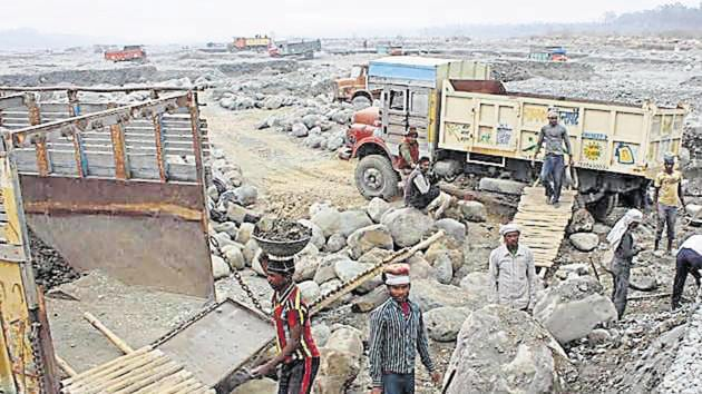 The mining department had announced to stop quarrying on the Gola river from Monday.(HT File/Mohammad Khalid Khan)