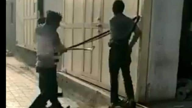 A screengrab from a video shared by MLA Jignesh Mevani on Twitter.
