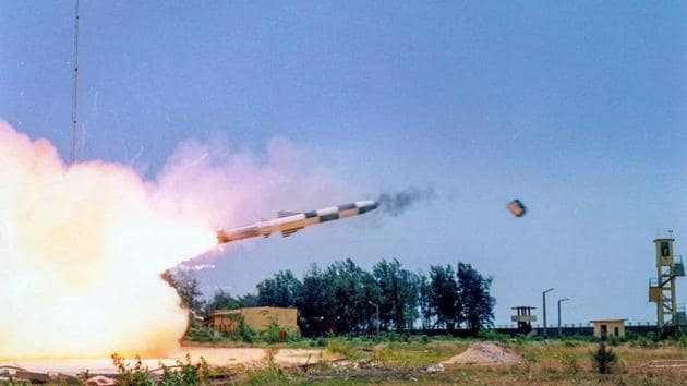 BrahMos supersonic cruise missile is successfully test fired as part of service life extension program, from the Integrated Test Range (ITR), in Balasore on Monday.(PTI File Photo)