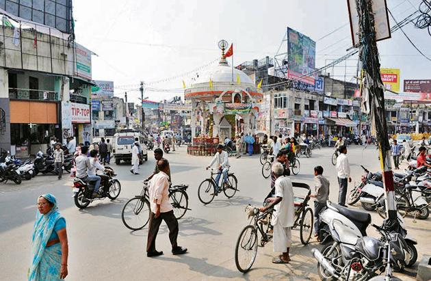 A scene from Muzaffarnagar.(Sushil Kumar/Hindustan Times)