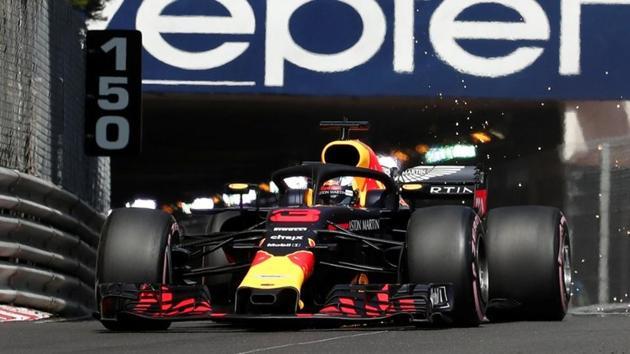 Red Bull's Daniel Ricciardo during practice at the Formula One Monaco Grand Prix on Thursday.(Reuters)